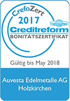 Creditreform confirms Auvesta's excellent credit rating