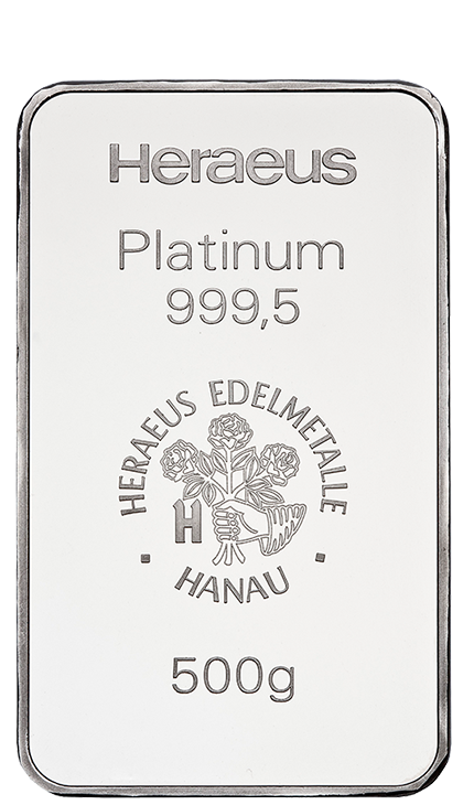500g Platinum Bullion