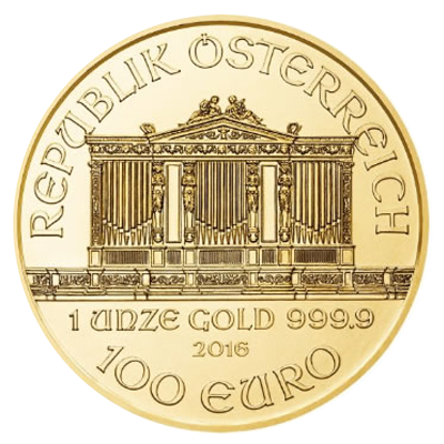 Wiener Philharmoniker gold coin - 100 EURO Nominal value